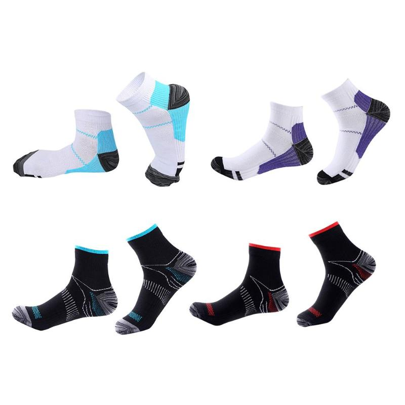 1pair Sport Foot Compression Socks Elastic Breathable Short Socks Supplies