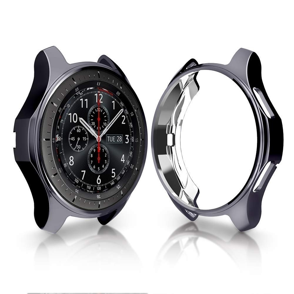 Case Cover For Samsung Galaxy Watch 46mm 42mm Gear S3 Screen Protector Soft TPU Plated All-Around Protective Cases Shell Frames