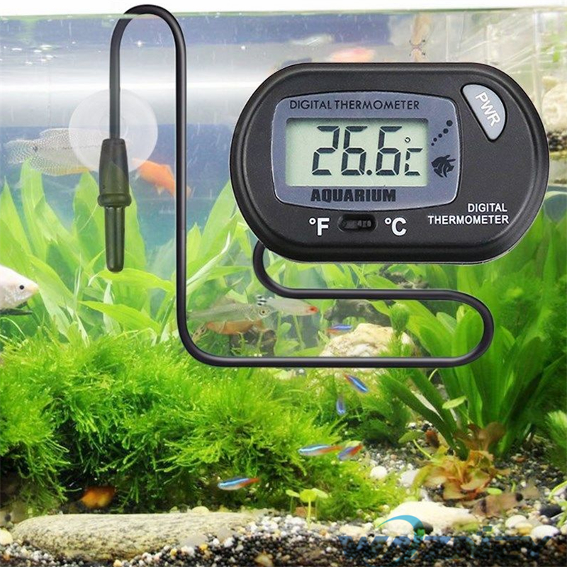 Digital LCD Fish Tank Aquarium Marine Water Thermometer Temperature Black