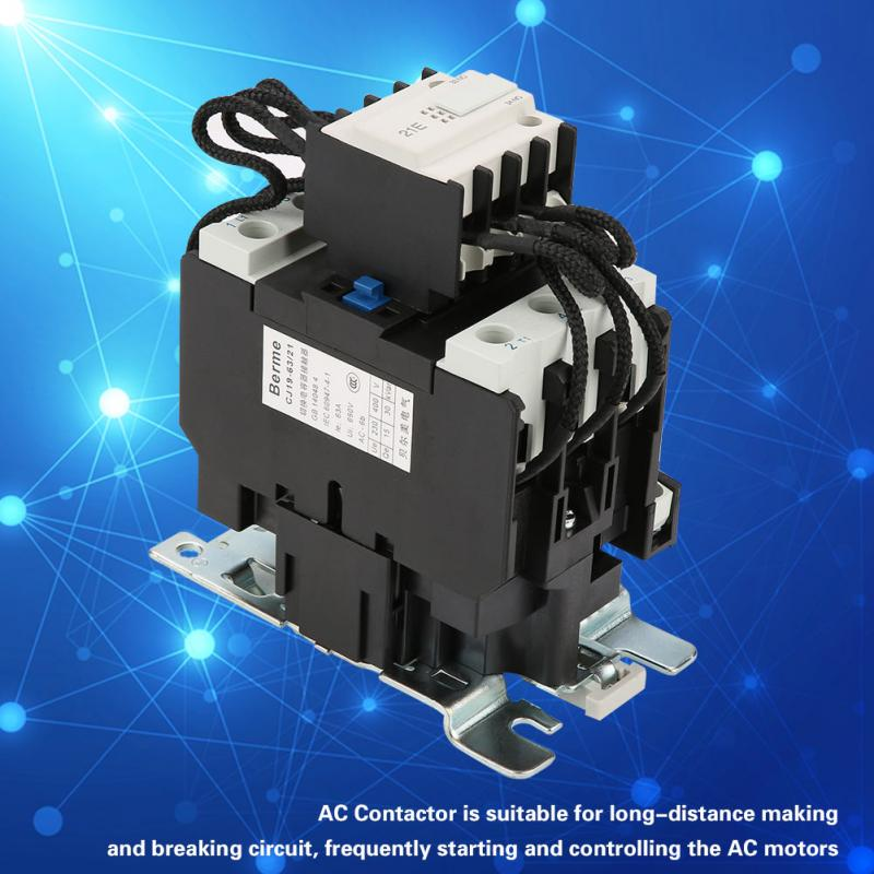 US $31.0 40% OFF|CJ19 63/21 63A Switch Over Capacitor Duty Contactor on