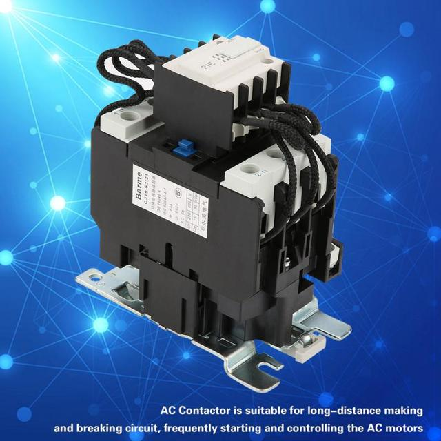 US $310 40 OFFCJ19 63/21 63A Switch Over Capacitor Duty Contactor AC  Capacitor Contactor High Quality-in Contactors from Home Improvement on
