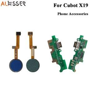 Image 1 - Alesser สำหรับ Cubot X19 ปลั๊ก USB Charge BOARD ASSEMBLY สำหรับ Cubot X19 ลายนิ้วมือ Scannner SENSOR FLEX CABLE อุปกรณ์เสริม