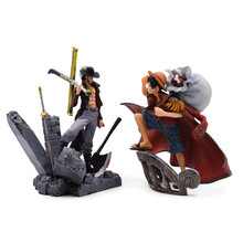 2 Styles Anime One Piece The Top War Monkey D. Luffy Dracule Mihawk PVC Action Figure Doll Collectible Model Toy Christmas Gift 8 66statue one piece the straw hat pirates monkey d luffy vs rob lucci gk action figure collectible model toy 22cm box d822
