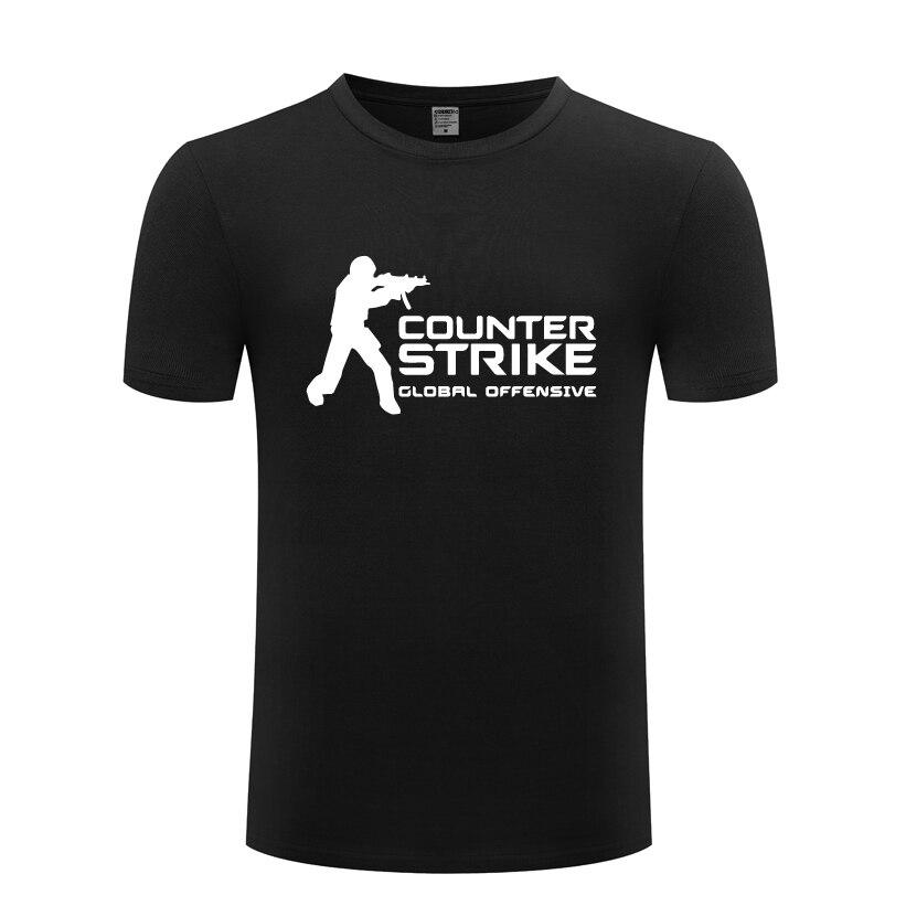 Juego contra golpes CS GO hombres camiseta 2018 nueva manga corta cuello redondo algodón Casual camiseta Top tee
