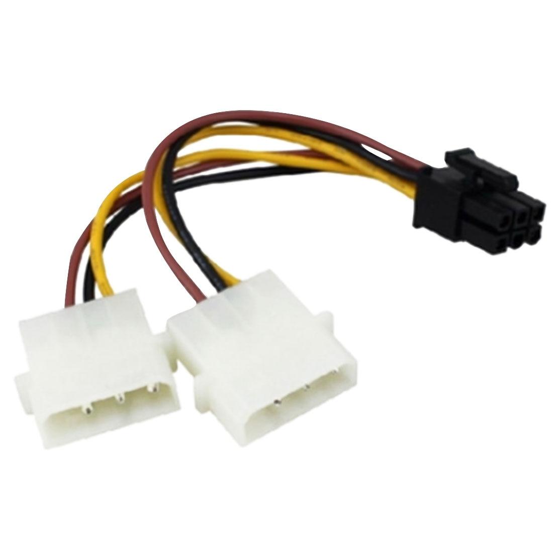 Nova placa gráfica cabo de alimentação dupla 4pin para 6pin 6 p para 4 p adaptador cabo de alta qualidade placa gráfica do computador cabo de alimentação      - AliExpress