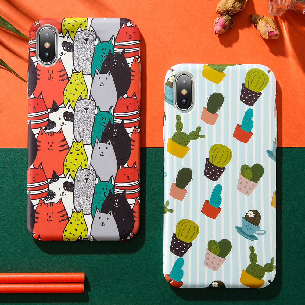 KISSCASE Hand-painted Pattern Cases For iPhone 7 8 6 6S Plus X  Phone XS Max XR Hard PC Covers