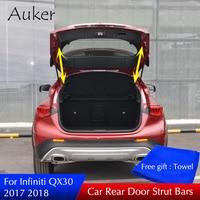 For Infiniti QX30 2017 2018 2019 Rear Door Trunk Box Supporting Hydraulic Lift Rod Strut Spring Shock Bars Bracket