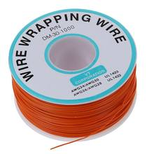 PCB Solder Orange Flexible 0.5mm Outside Dia 30AWG Wire Wrapping Wrap 1000F N9F3(China)