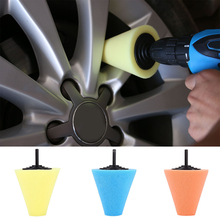 Foam Polishing Cone Shaped Pads For Wheels - Use With Power Drill