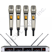 MiCWL SKM9000 True Diversity Wireless Stage Song Microphone System large areas 4 Champagne Gold Black Limited Edition Handheld