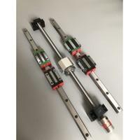 HGR20 Square Linear guide rail 6 set HGR20 400 860 1240mm +HGH or HGW20 4pcs SFU1605 350 800 1120 1120mm ballscrew set
