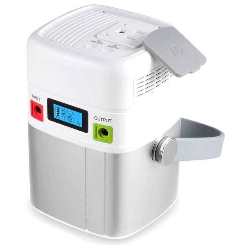 LIBOVER 31200mAh AC sortie chargeur Portable 120W MAX. Batterie externe pour voyage universelle intégrée à 5 prises (2 USB, 1 Type C, 1 dc, 1 AC