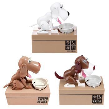 1 pc de dibujos animados perro robótico Banco Caja de dinero Banco automática robó moneda perrito dinero Caja de Ahorro de regalo de los niños