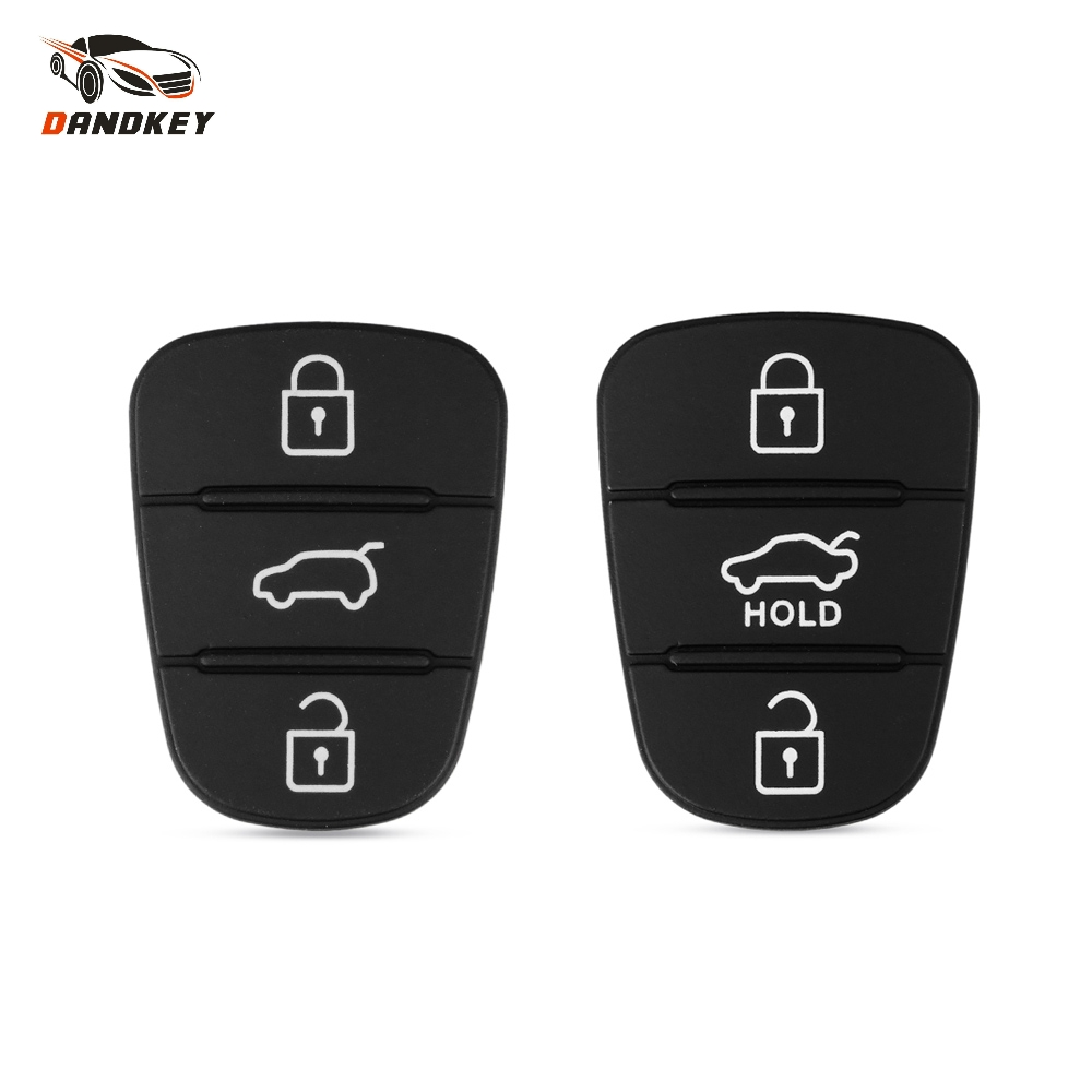 Dandkey 3 Buttons Rubber Pad Key Shell For Hyundai I30 IX35 Kia K2 K5 New Replacement Flip Remote Car Key Fob Case CoverDandkey 3 Buttons Rubber Pad Key Shell For Hyundai I30 IX35 Kia K2 K5 New Replacement Flip Remote Car Key Fob Case Cover