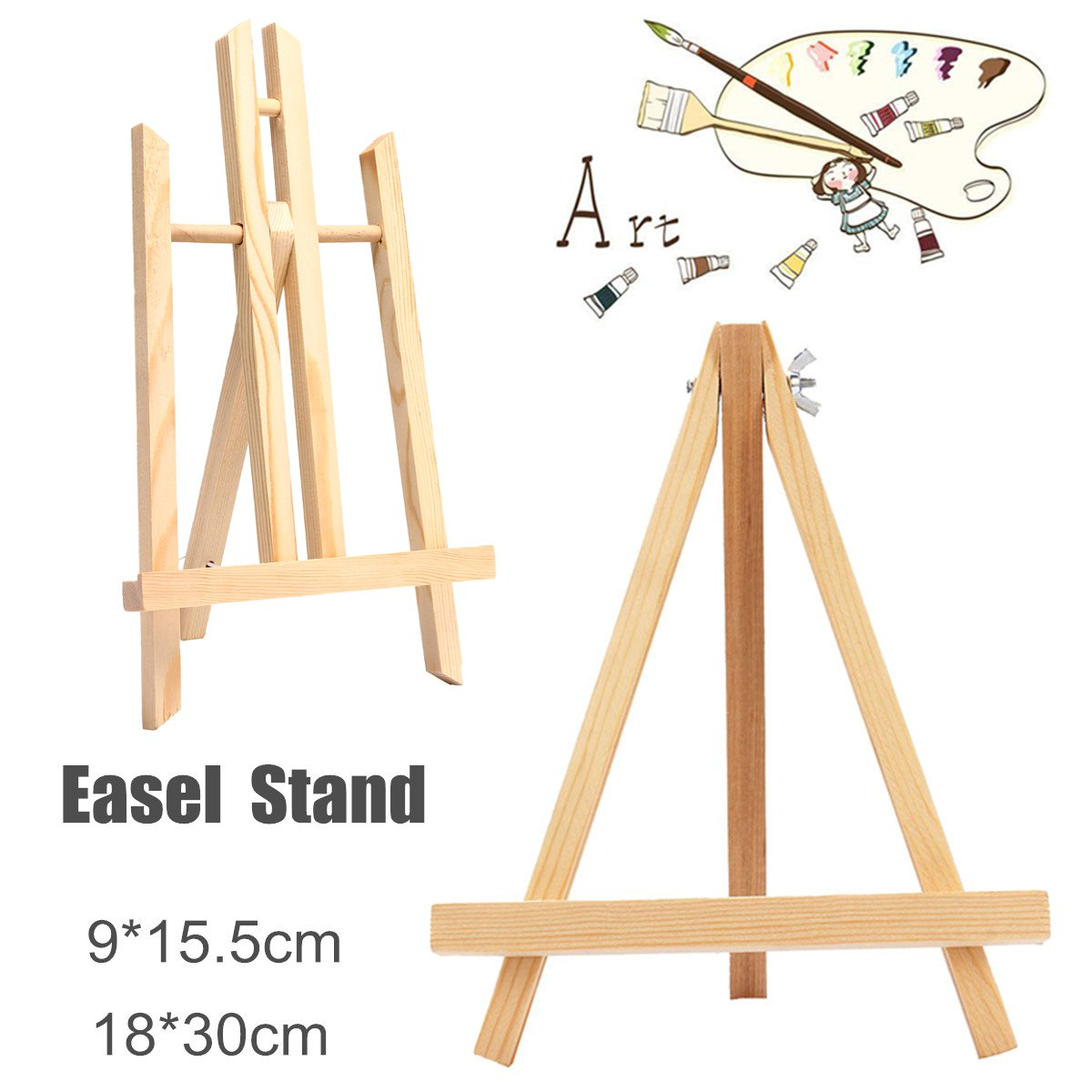 Wooden Durable Easels Display Tripod Artist Painting Stand Rack Wedding Table Card Stand Holder For Party Decoration 155X90mm