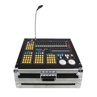 With Flight Case Sunny 512 Console/DMX Lighting Control Console For LED Par Beam Moving Head Stage Effect Lights/DMX Controller