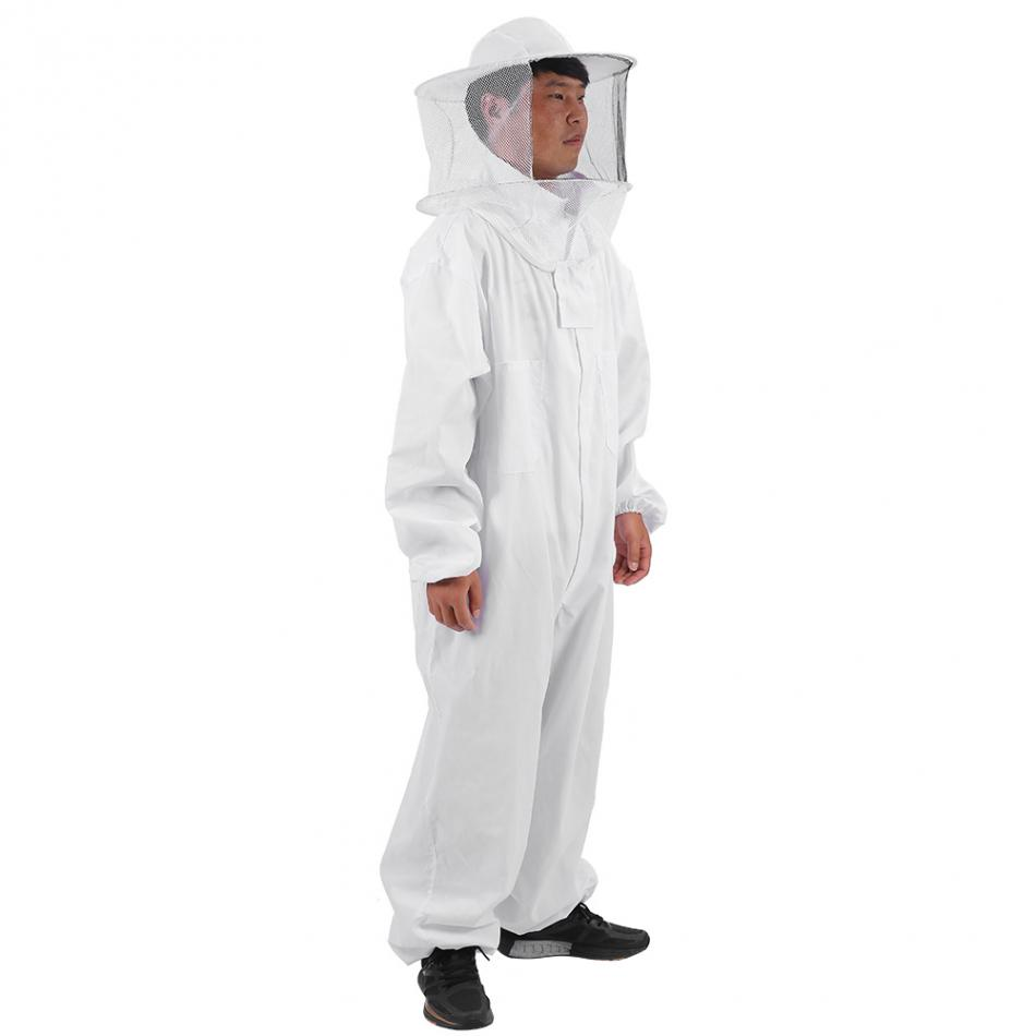 Image 2 - Cotton Beekeepers Bee Suit Professional Full Body Bee Remover Gloves Hat Clothes Jaket Protective Suit Beekeeping Equipment-in Protective Clothing from Home & Garden