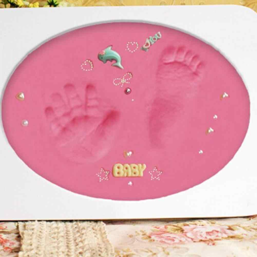 1 pièces empreinte bébé Air sec argile douce infantile et enfant croissance Record Souvenir empreinte boue 20g multicolore en option