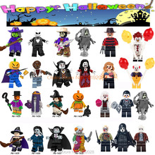 For legoing Halloween Horror Figures Hector Guy Hockey Mask Hunter-Black freddy Jason Scream Killer building blocks Toys Bricks(China)