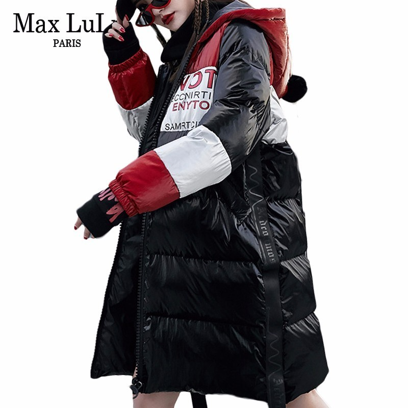 Max LuLu Famous Brand Clothes Korean Ladies Long   Parka   Womens Hooded Puffer Jacket Jaqueta Feminina Female Winter Coat Plus Size