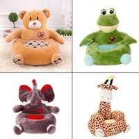 Cartoon Animals Cute Child Seat PP Cotton Plush Soft Baby Infant Sofa Baby Toddler Armchair Nursery Furniture Kids Soft Toys