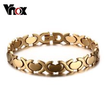 6590edc3d03 Vnox Women's Bracelet Stainless Steel Heart Party Jewelry Adjustable Size  Silver/Gold-color