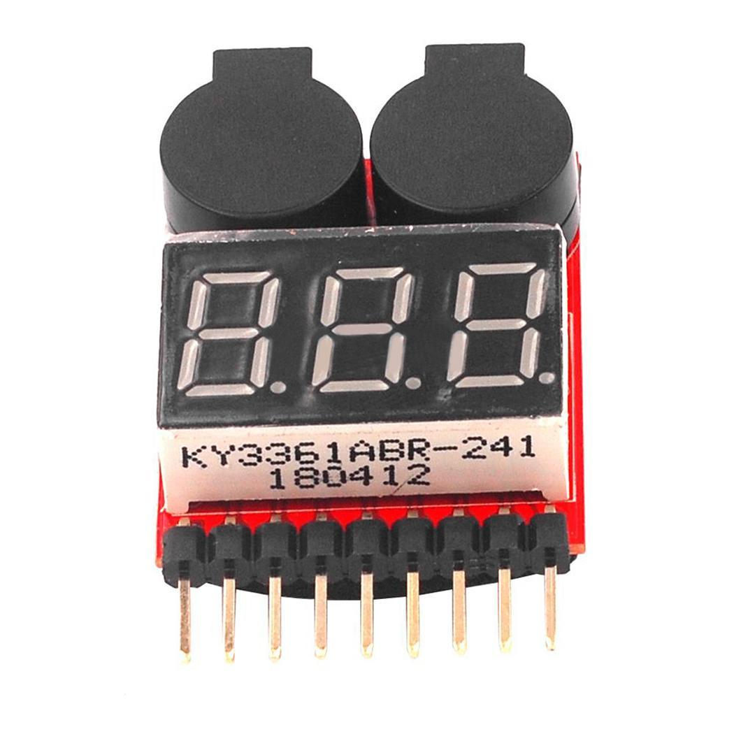 Battery Alarm 1-8S Lipo/Li-ion/Fe Battery Voltage 2IN1 Tester Low Voltage Buzzer Alarm NO 1 New Sale vm006 1 6s lipo battery accurate battery voltage meter lcd liquid crystal display alarm