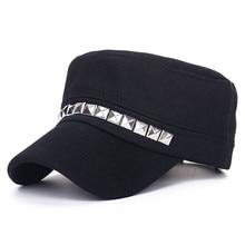 Remache militar boina sombreros para las mujeres marinero gorras hueso  plano gorra militar de los hombres con estilo capitán alg. 7df3301cb54