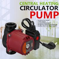 WOLIKE Central Heating Circulator Pump 220V 100W Max Flow Max Lift 65L/Min 6M for Heating system Underfloor Water Heating