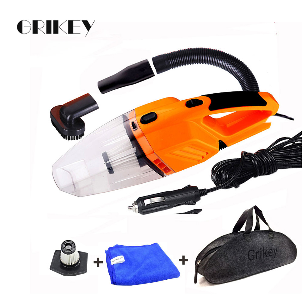Car Vacuum Cleaner 120W Portable Handheld Vacuum Cleaner Auto Wet/Dry Car Vacuum Hand Vac HEPA Filter 12-Volt