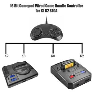 Image 5 - Gaming Pad 16 Bit Gamepad Universal Wired Game Handle Controller Joystick Game Console for K1 K2 SEGA Aircraft/9 hole SEGA
