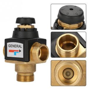 Image 4 - Hot 1Pc 3 Way DN20 Male Thread Brass Thermostatic Mixing Valve for Solar Water Heater