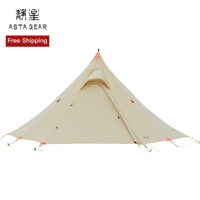 ASTAGEAR 2019 NEW SNOW 2 Person Oudoor Ultralight Camping Tent 3 Season Lightweight poleless tent