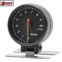 Drago calibro 60 MILLIMETRI Nero pannello di modifica Corse auto tachimetro RPM gauge 4/6/8 cilindro Meter Auto A Benzina di Trasporto trasporto libero