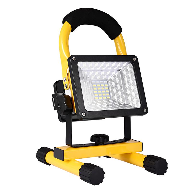 30W Led Portable Spotlight Led Work Light Rechargeable 18650 Battery Outdoor Light For Hunting Camping Fishing Led Latern Lamp