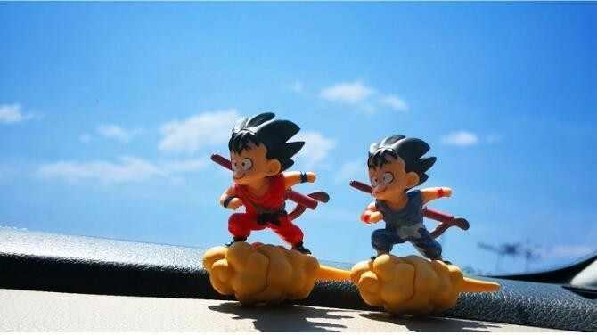 Горячая 12 см Dragon Ball Z Son Goku Krillin Bobble Head автомобильный держатель телефона ПВХ фигурка игрушка для детей модель Украшение куклы Подарки