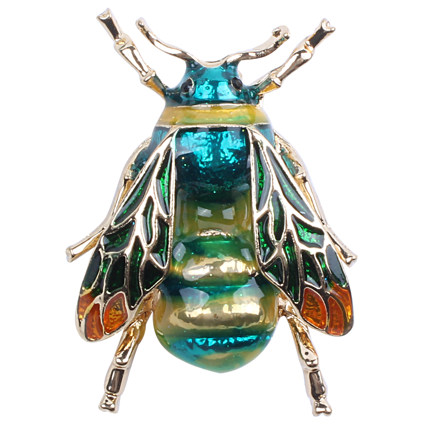 Fashionable Bumble Bee Crystal Brooch Pin Costume Badge Party Jewelry Gift Green bee