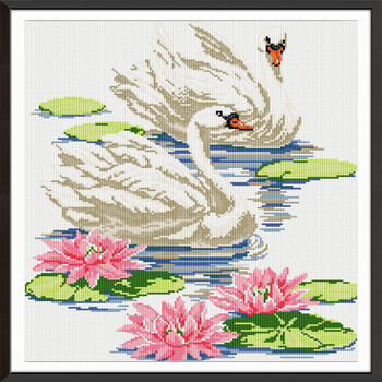 Swan lover Diamond Embroidery Full Display Diamond Mosaic Diamond Painting Diamond Embroidery DIY Animal Home Decoration фото