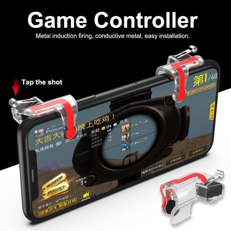2Pcs Mobile Game Joystick Gamepad Fire Trigger
