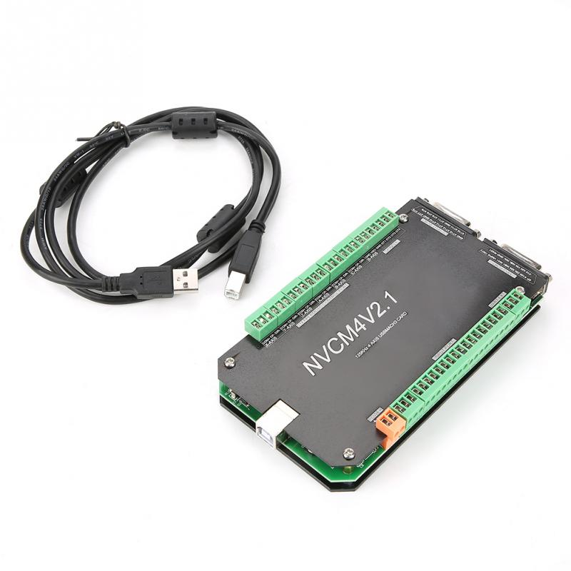 NVCM contrôleur de CNC 4 axes MACH3 carte d'interface USB pour moteur pas à pas