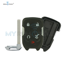 цена на Remtekey HYQ1EA 4+1 button Replacement smart car key shell case for Chevrolet Suburban Tahoe 2015