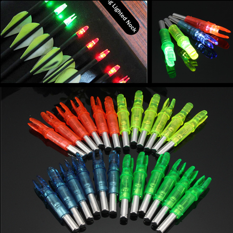 Image 3 - 6pcs/lot Automatically ABS 44*6.2mm Led Lighted Arrow Nock Fits diameter Archery hunting Shooting arrow Accessories 4 color-in Bow & Arrow from Sports & Entertainment