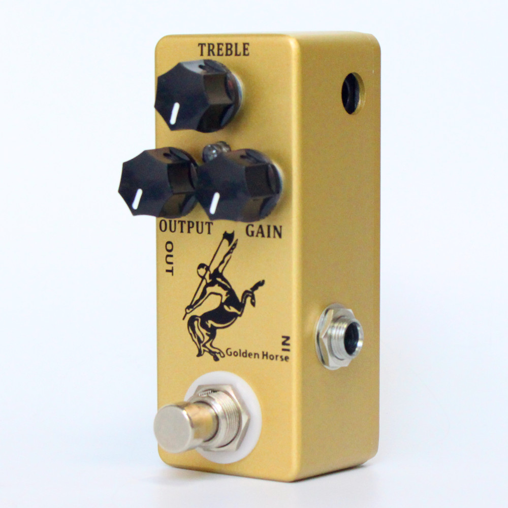 High Quality Audio Golden Horse Guitar Overdrive Effect Pedal Full Metal Shell True Bypass Guitar Parts new guitar fuzz true bypass high quality guitar effect pedal pcb and 3pdt 9 pin foot switch and more free shipping