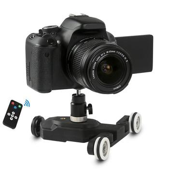 3-Wheels Wirelesss Video Camera Auto Dolly Track Slider Dolly Car Track Rail for DSLR Cameras Camcorders