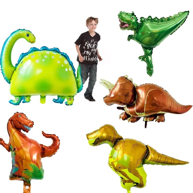 1pc Babyshower Giant Dinosaur Party Foil Balloons Happy 1st Birthday Party Decorations Kids Adult Home Decoration Accessories in Ballons Accessories from Home Garden