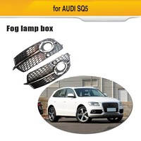 Fog Lamp Grill for For Audi Q5 S Line SQ5 Sport 2014 2017 4 Door ABS Front Bumper Fog light Grille Box