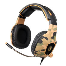 Sades Camouflage Sa818 Computer Gaming Headphones Pc Gamer Headset For Ps4 New Xbox One Controller Laptop Mobile Phone With Mi