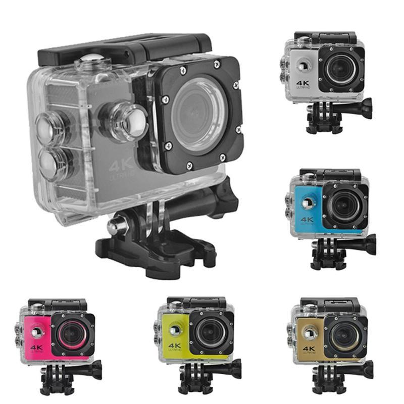 Sport & Action-videokamera Unterhaltungselektronik 4 K Action Kamera Original F60 Fern Wifi 2,0 Inch Lcd 1080 P 170d Objektiv Helm Unterwasser Wasserdichte Camcorder