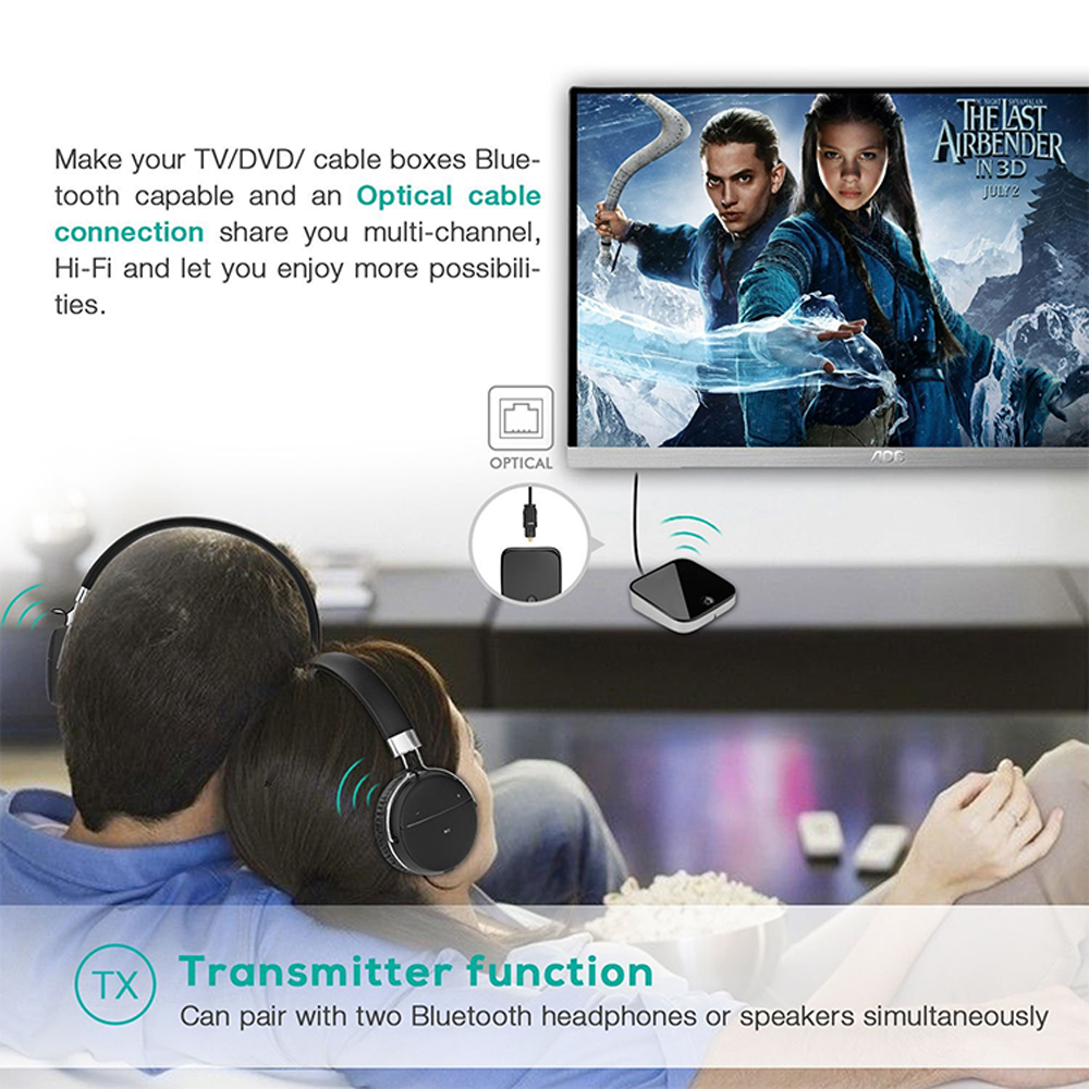 Image 5 - BTI 029 Bluetooth 5.0 Audio Bluetooth Transmitter Receiver 2 IN 1 3.5mm CSR8670 V5.0 Wireless Bluetooth Adapter  for Car and TVWireless Adapter   -