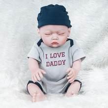 a246b10c28f4 52 cm reborn baby doll réaliste nouveau-né infantile garçon jouet garçon poupée  silicone souple